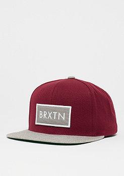Brixton Rift burgundy/light heather grey