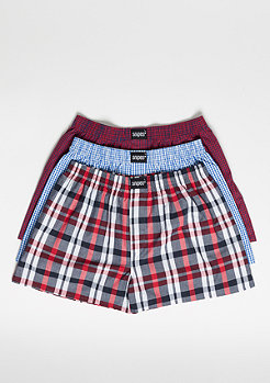SNIPES 3er Boxer Cuffed plaid II
