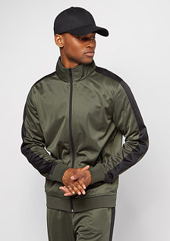 Track Jacket dark olive/black