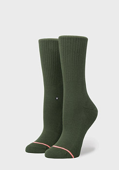 Stance Uncommon Solids Classic Crew green