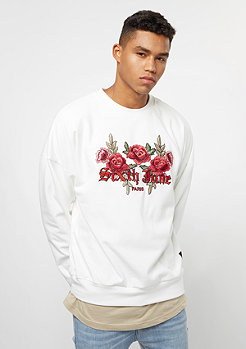 Sixth June Classic Oversize Logo & Roses off white