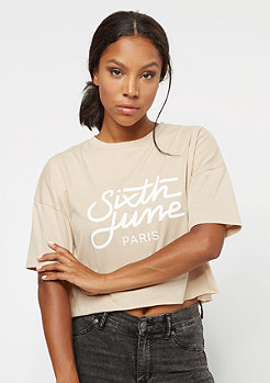 Sixth June Ultra Oversize Logo sand