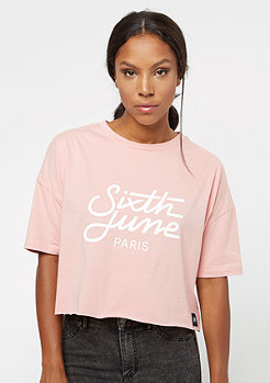 Sixth June Ultra Oversize Logo dark stone pink