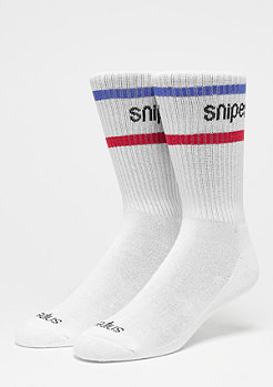 Striped Crew Sock white/navy/red
