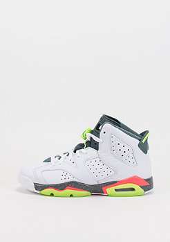 Basketballschuh Air Jordan 6 Retro BG white/ghost green/bright mango