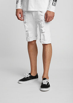 Jeans-Short Gork white