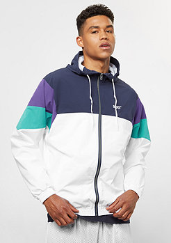 Block Chest Logo Hooded blue/white/heliotrope