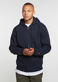 Hooded-Zipper Chase navy