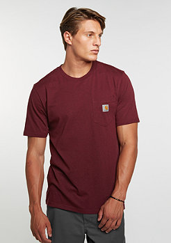 T-Shirt Pocket chianti heather