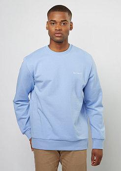 Sweatshirt Script Embroidery glacier/white