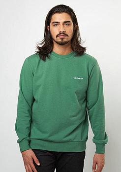 Sweatshirt Script Embroidery mojito/white
