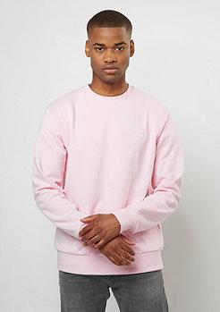 Sweatshirt Script Embroidery vegas pink/white