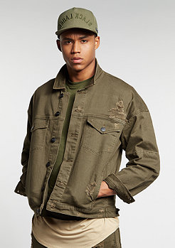 Jacke Drop Shoulder Denim olive