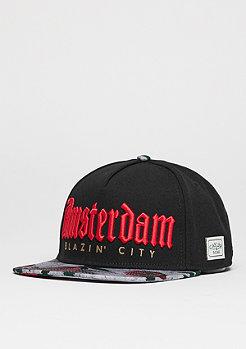 Snapback-Cap GL Amsterdam black/concrete roses/red