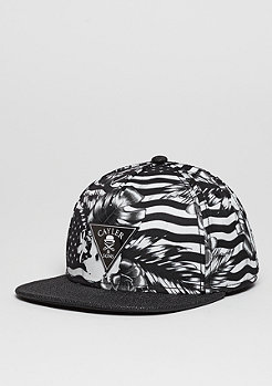 Snapback-Cap GLD Flagged black/white