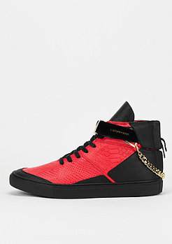 Schuh Hamachi vintage black/red python/gold