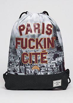 Turnbeutel WL Gymbag Paris Skyline maroon/mc