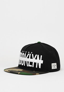 C&S WL Cap Brooklyn Soldier black/woodland/white
