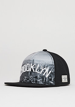 Snapback-Cap WL Crooklyn Skyline black/white