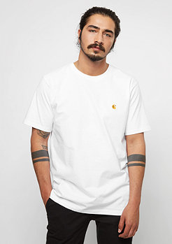 T-Shirt Chase white/gold