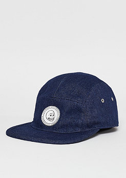 5-Panel-Cap CM badge rinsed blue