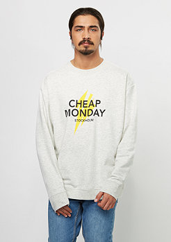 Cheap Monday Sweatshirt Victory Lightning Logo light melange