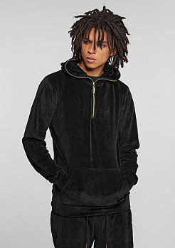 Hooded-Sweatshirt Velour black/gold