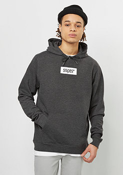 Hooded-Sweatshirt Small Box Logo charcoal/white