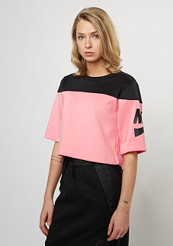 T-Shirt Crop Irreverent black/bright melon