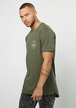 T-Shirt BL FRDM Long Scallop Back olive