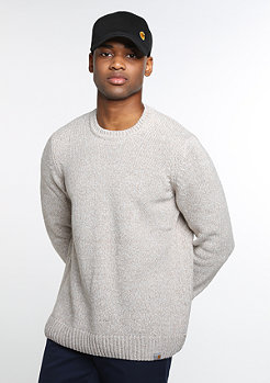 Sweatshirt Morris snow/light grey heather