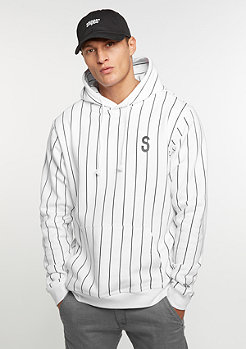 Hooded-Sweatshirt Pinstripe white/white print