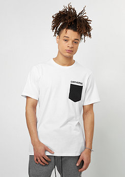 T-Shirt Stripes Pocket white