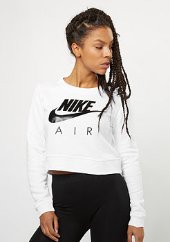 NIKE Sweatshirt Mordern Crew Crop Air white/white/black/black