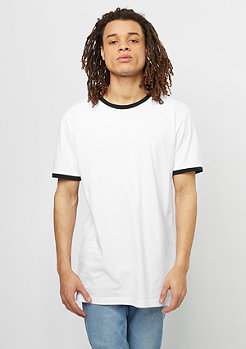 T-Shirt Ringer Tee white/black