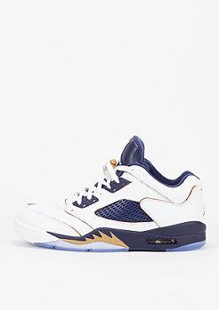 Basketbalschoen Air Jordan 5 Retro Low white/metallic gold star/mid navy