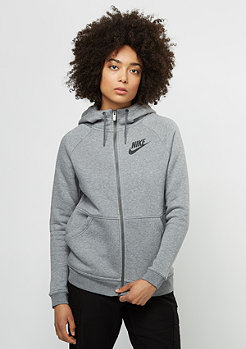 Hooded-Zipper Rally carbon heather/dark grey/black