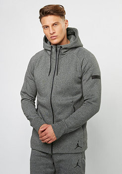 Hooded-Zipper Icon Fleece sequoia/black