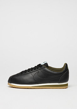 Laufschuh Wmns Classic Cortez Leather black/black/legion green