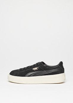 Schuh Suede Platform black/gold/whisper white