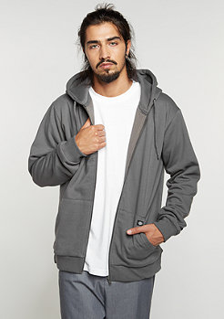 Hooded-Zipper Kingsley charcoal grey