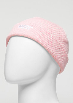 Beanie Small Logo rose/white