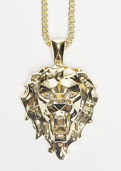 Kette Fox Empire CZ Faceted Lion gold