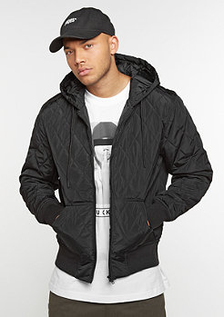 Übergangsjacke Hooded Big Diamond Quilt black