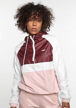 Übergangsjacke Half-Zip Tracktop white/bordeaux/rose