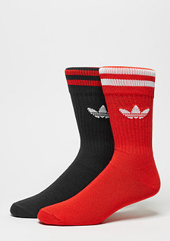 Sportsocke Solid Crew 2er Pack core red