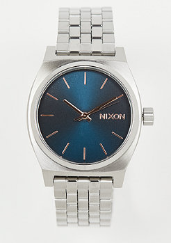 Nixon Medium Time Teller navy/rose gold