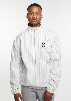 Trainingsjacke Pinstripe Cotton white/black