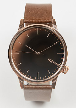 Uhr Winston Mirror rose gold/cognac