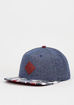Snapback-Cap 6P Knitted Duck navy/burgundy